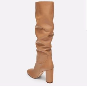 Zara Bloggers Favorite Leather Camel Boots 7.5